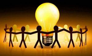 Idées commune unis autour de la lumière